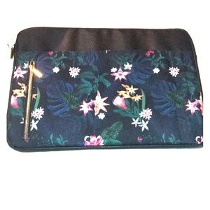 New laptop bag floral by Typo padded faux leather